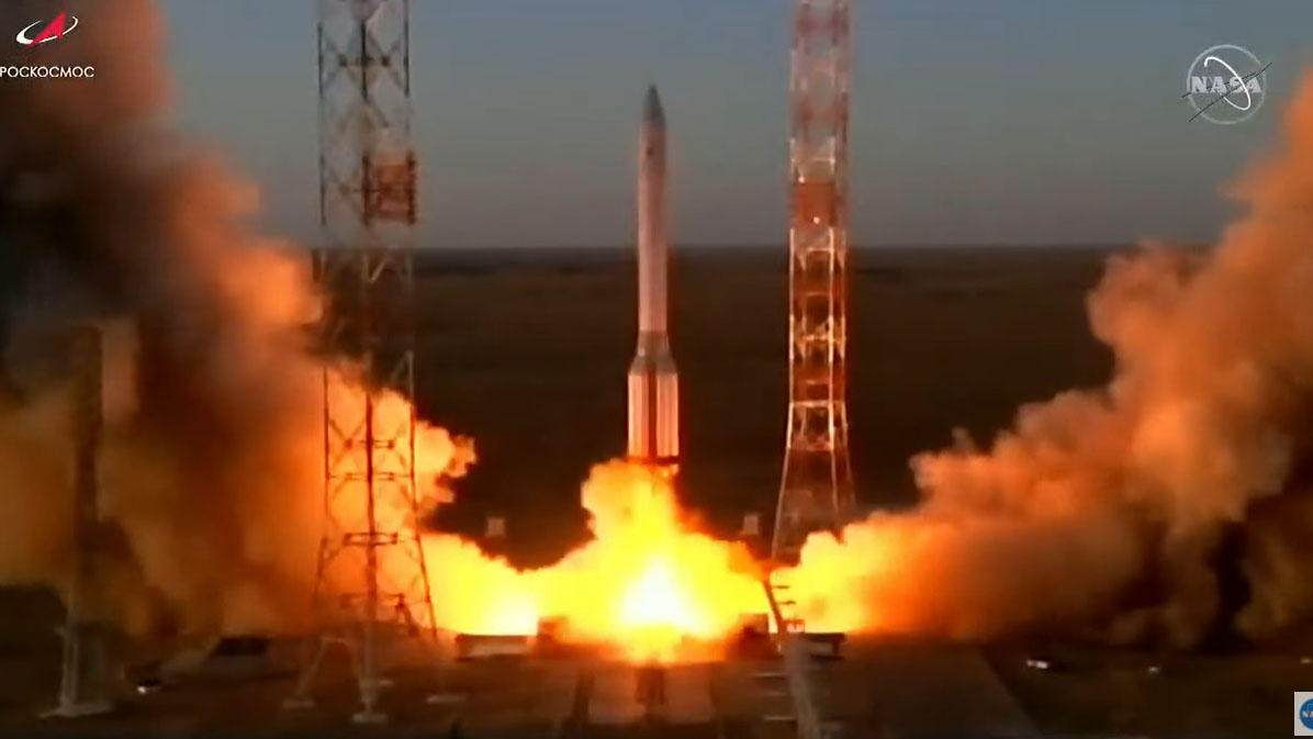 Russian research module was launched to the space station after a 14-year delay