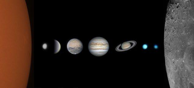 عکس خانوادگی منظومه شمسی