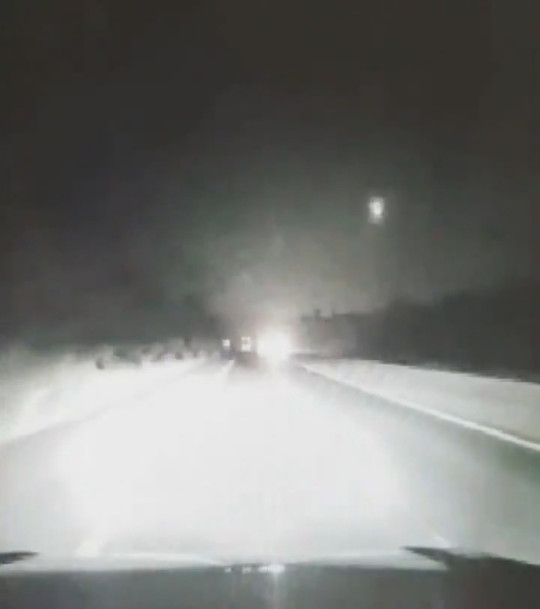 Police officers on the evening patrol on Hampshire were lucky enough to spot the meteor